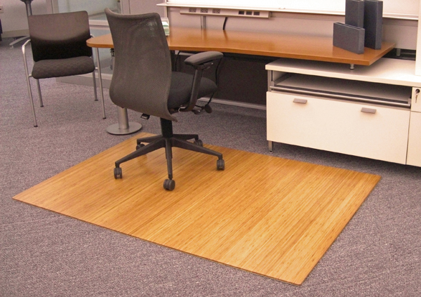 Bamboo Chair Mats are Foldable Office/Desk Mats by American Chair Mats