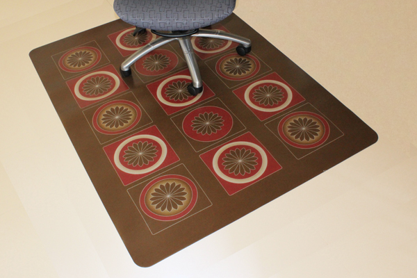 Design Print Chair Mats   Carpeted Surfaces ...