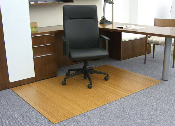bamboo desk chair mats 316 - Office Chair Mat
