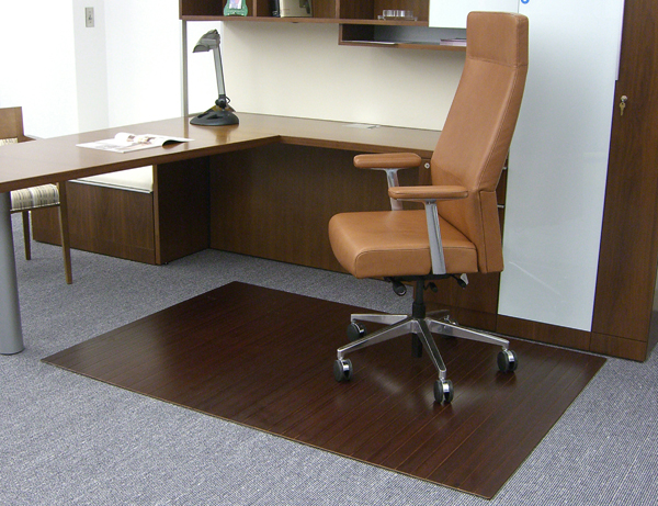 Bamboo Desk Chair Mats - 8/16 & Bamboo Chair Mats are Bamboo Tri-Fold Office Mats/Desk Mats by ...