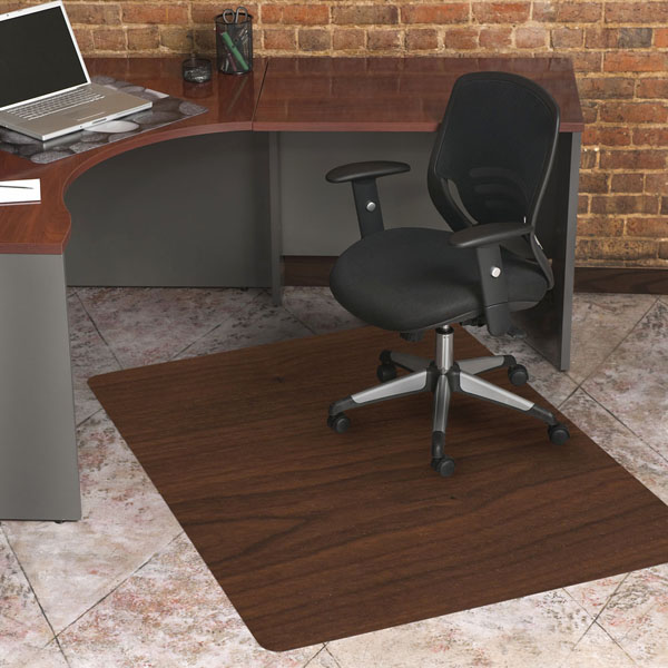 Charming Laminate Wood Design Chair Mats