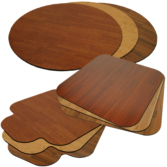 Wood Chair Mats are Wood Desk Mats and Snap Mats : American Chair Mats