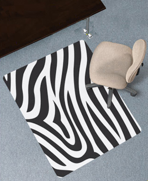 design print chair mats carpeted surfaces